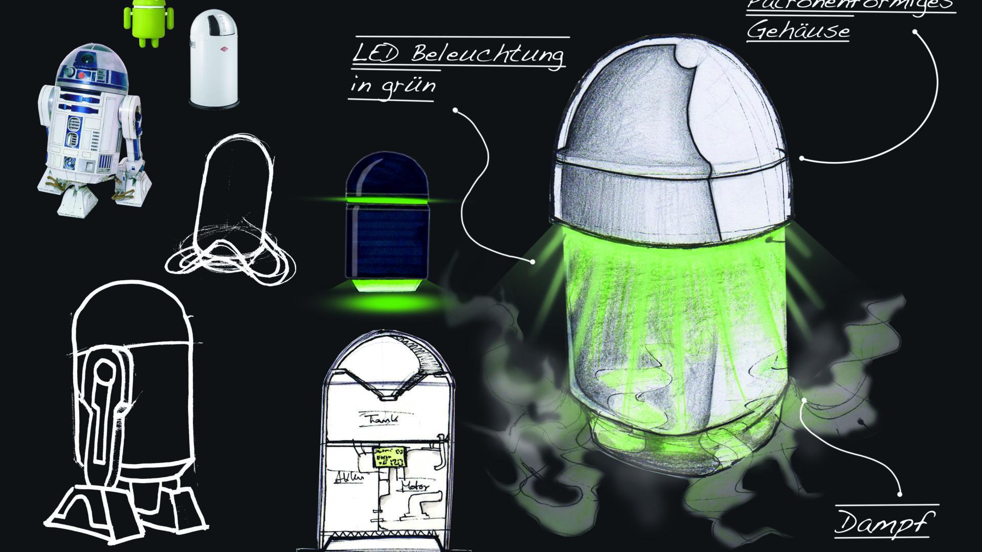Eine Sammlung von Skizzen und Ideen zum Aufbau der Silicon Fire SiH2.