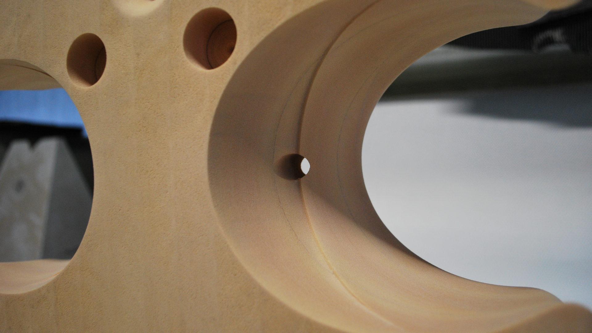 Detailansicht eines U-Boot-Auftriebskörpers.