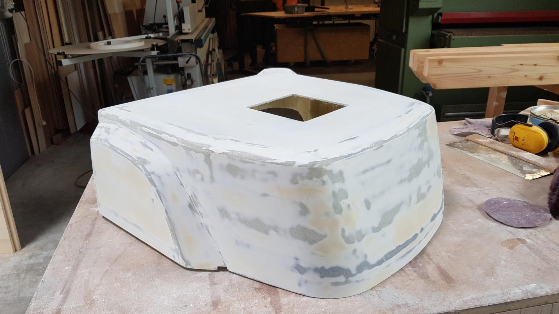 Robotergehäuse Composite Gehäuse, unlackiert.